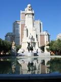 cervantes monument madrid poster