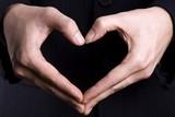 heart gesture poster