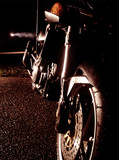 motorcycle at night
