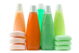 set of colorful hygienic supplies poster