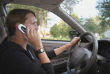 teen driver with cell phone poster