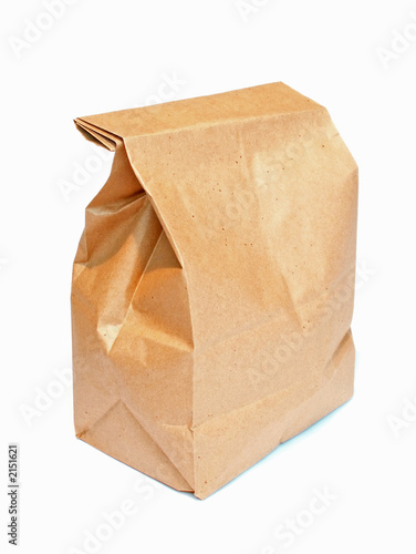 brown lunch sack