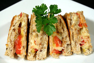 toasted cheese and tomato sandwiches