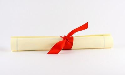 red bow diploma
