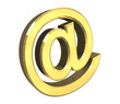 simbolo di posta elettronica fondo bianco