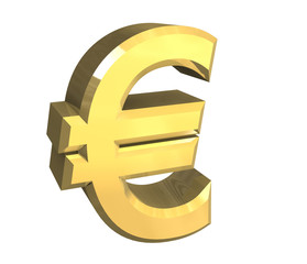 simbolo dell'euro a fondo bianco 2