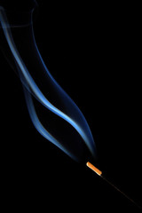 fragrance stick burning smoke