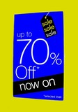 sign.sale. up to 70% off now on selected items poster