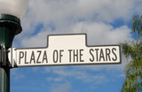 plaza of the stars street sign poster