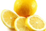lemon whole and sliced poster