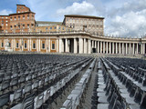 saint peter square - rows of seats