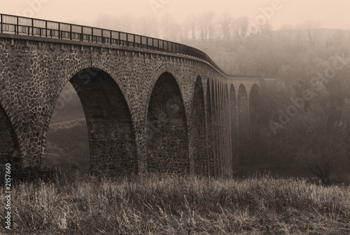 sepia aqueduct in the winter - 2157660