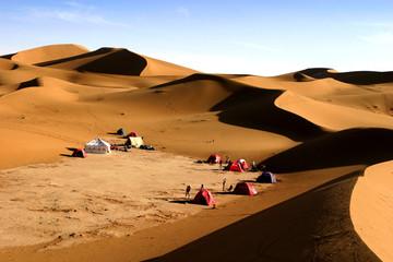 bivouac dans le désert