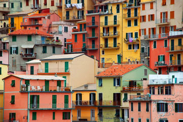 colourful texture of manarola city of cinque terre