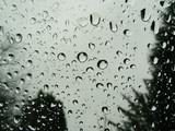 raindrops on car window poster