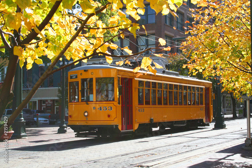 canvas print picture memphis trolley