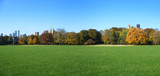 great lawn panoramic view, central park, new york poster