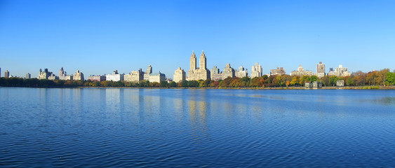 nyc central park reservoir panoramic view