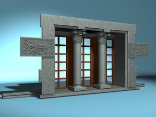 finestra antica a