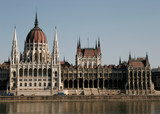 the hungarian parliament building poster