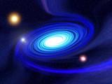 fantasy spiral galaxy poster