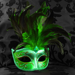 green jealous mask (venice)
