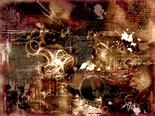 abstract photomontage background