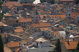 red roofs. croatia