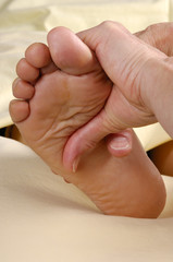 spa reflexology foot massage treatment