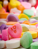 i love you candy heart poster