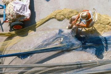 pescatore e reti