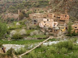 maroc : village de la vallée de l'ourika
