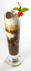 coffe with cream and ice cream