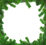 xxl image of square spruce twig frame poster