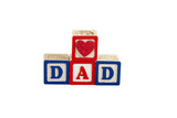 heart dad on white with path poster