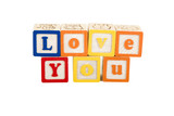 love you on white with path poster