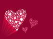 coeur fond rouge