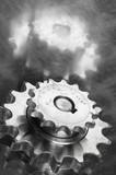gears in monochrome poster