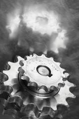 gears in monochrome