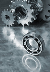 bearing and gears