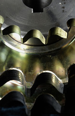 machine part close up