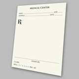 prescription pad poster