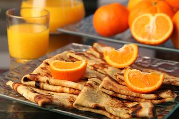 crêpe oranges