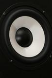 one audio speaker close up poster