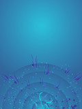 background blue radiate poster