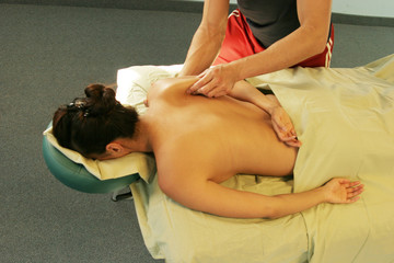 massage therapy at the spa