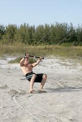 parasailing action