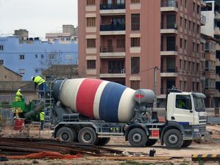 concrete-mixer truck