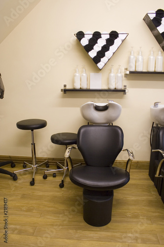 poster of hair salon chair
