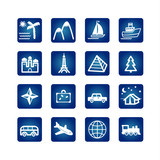 Fototapety travel icons set